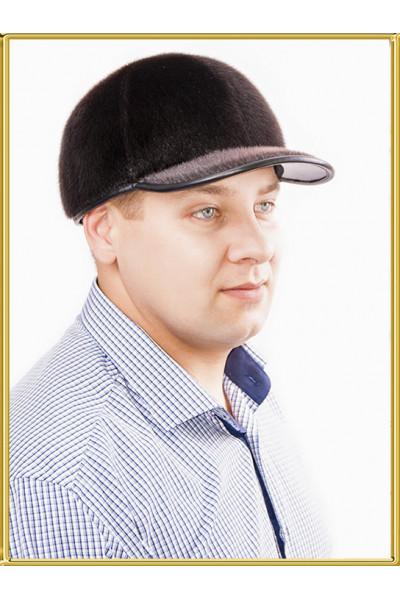 """Бейсболка из нерпы мужская """"Рем-2"""""""