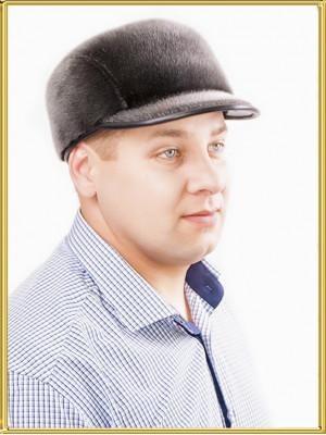 Мужская шапка из нерпы Стелс
