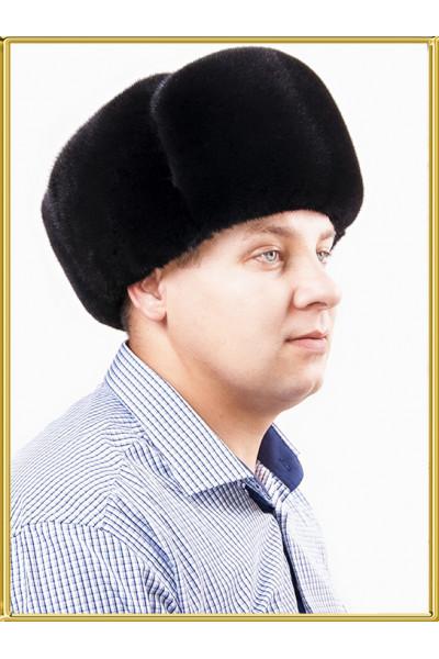 Шапка ушанка норковая Каскад