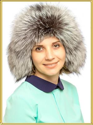 """Шапка из чернобурки """"Милолика"""""""