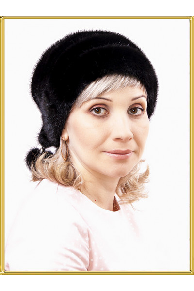 """Женская норковая шапка """"Бандана"""""""