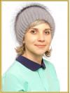 """Норковая шапка с чернобуркой """"Белла"""""""