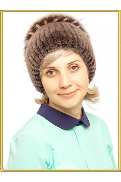 """Норковая шапка женская """"Диана"""""""