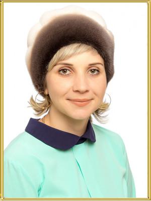 "Норковая шапка женская ""Гуля"""