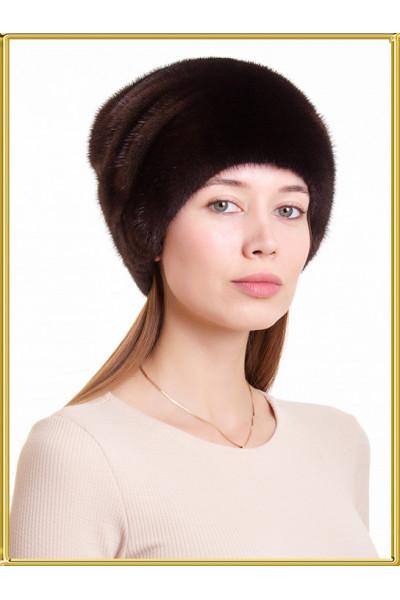"""Меховая шапочка """"Лыжница-5"""""""