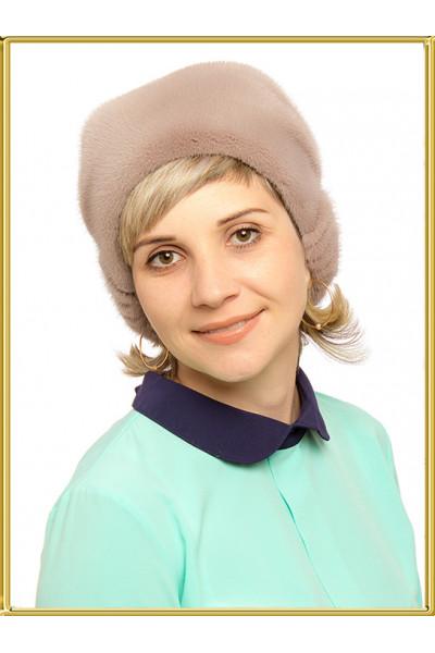 """Норковая шапка женская """"Сизаль"""""""