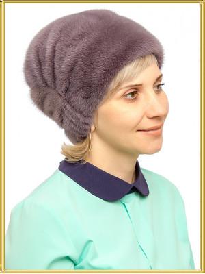 """Норковая шапка женская """"Вереск"""""""