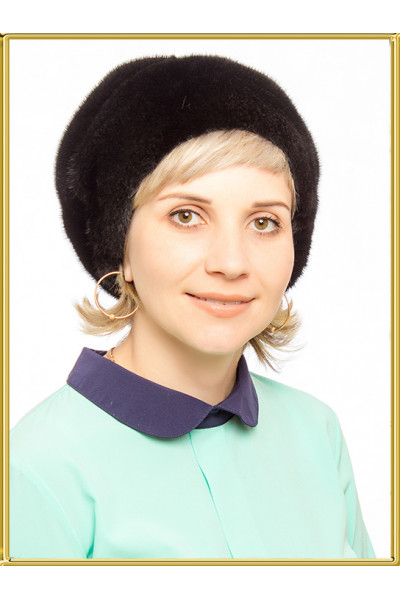 "Норковая шапка женская ""Зара-2"""