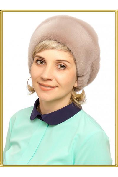 """Зимняя норковая шапка """"Зара-6"""""""