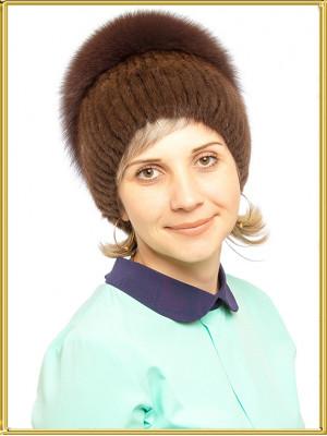 """Ондатровая шапка женская """"Елена"""""""