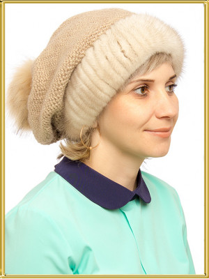 """Норковая шапка женская """"Обаяние"""""""